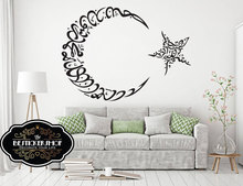Islam Muslim Wall Sticker Star Moon Arabic Text Bedroom Living Room Decoration Detachable MSL01