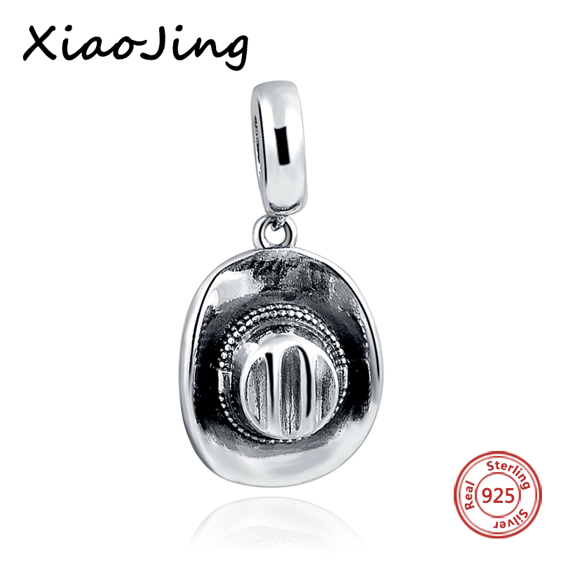 Charm 925 Original New style cowboy hat Pendant Charms Sterling Silver Fit Authentic Pandora Charm Bracelets Jewelry making Gift