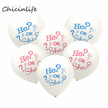 Chicinlife 10Pcs/lot 10inch He or She ?  Gender Reveal Balloon Baby Shower  Boy or Girl Party Decoration