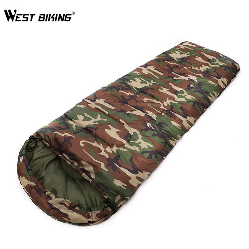 WEST BIKING Ultra-light Portable Envelope Splicing Single Sleeping Bag Camping Travelling Hiking Bag Winter Sleeping Bag 2x lot rasha quad 7pcs 10w rgba rgbw 4in1 dmx512 led flat par light wireless led par can for disco stage party