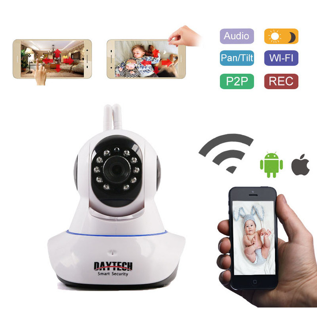 Daytech IP Camera Home Security WiFi Camera Wi-Fi Network Monitor Motion Alarm  P2P Night Vision Two Way Audio DT-C101A 960P