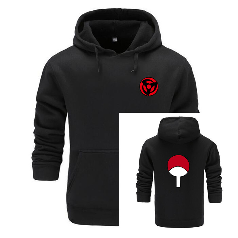 2018 New Naruto Anime Fashion Hoodies And Sweatshirts For Couples Fashion Winte Hoodies Men Uchiha Syaringan Funny Clothes