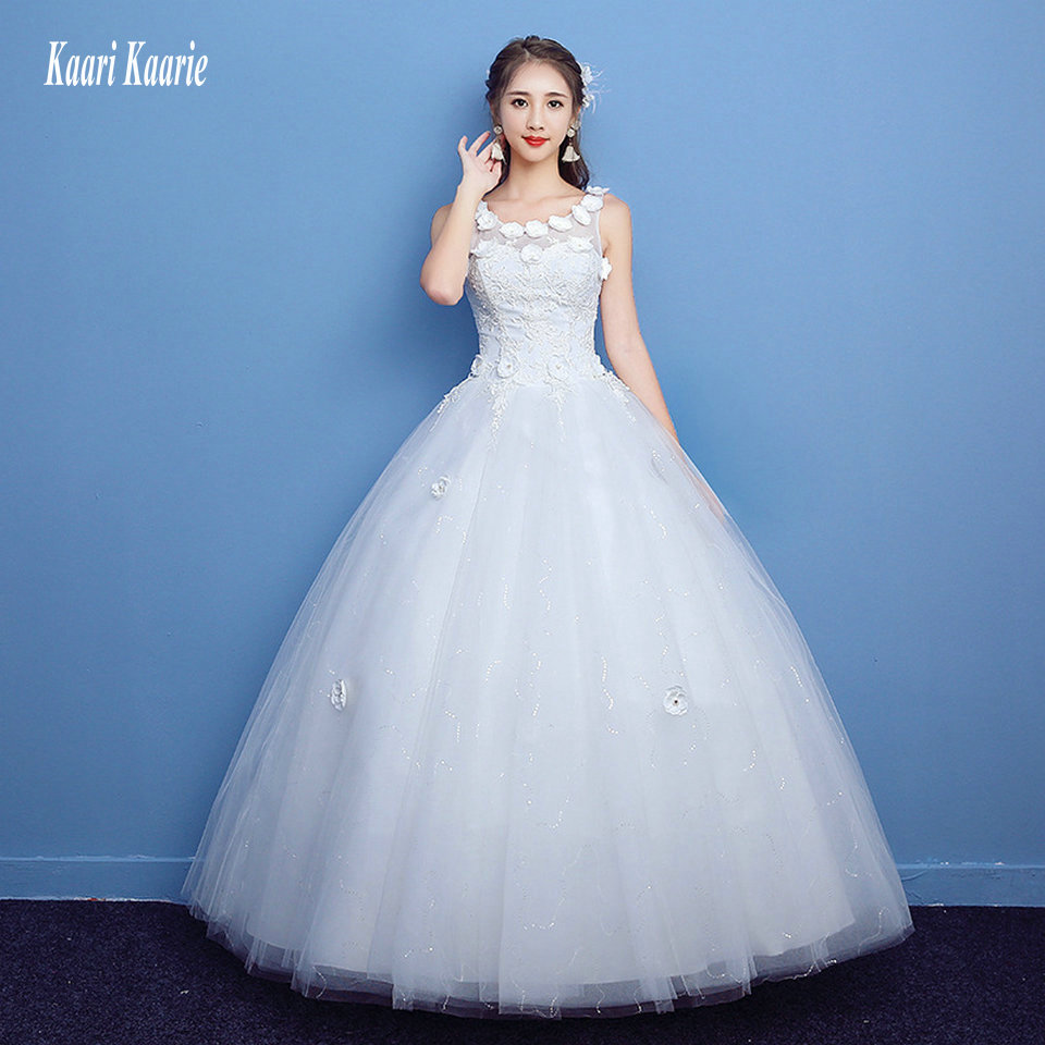 New White Ivory Wedding Dresses Ball Gown Applique Bridal: Unique Ivory Wedding Dresses Long 2019 New Wedding Gowns