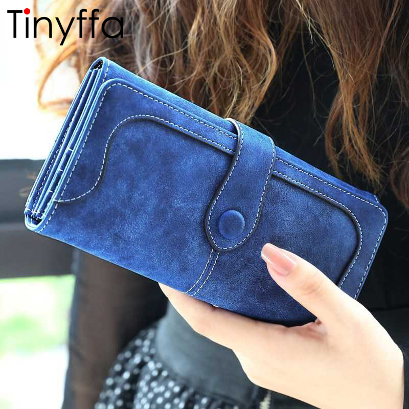 Tinyffa Nubuck leather wallet women luxury brand coin purse bag female clutch bag Handbags dollar price long wallets carteira new brand genuine leather purse for women real leather women s wallet clutch bag women long wallet purse carteira 2016