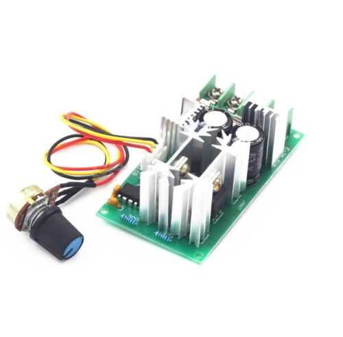 20A PWM DC Motor Speed Controller 12V 24V 36V 48V /w Potentiometer Knob Switch panlongic hand twist grip hall throttle 100a 5000w reversible pwm dc motor speed controller 12v 24v 36v 48v soft start brake