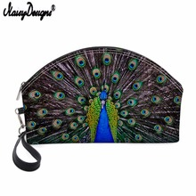 NOISYDESIGNS Ladies Cosmetic Bags Creative peacock Leather Necessaries for Travelling Storage Makeup Bag Beauty Organizer Pouch deanfun cosmetic bags 3d printing pug animal women makeup organizer necessaries for travelling dropshipping 50132