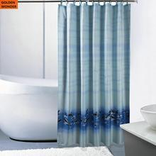 High Quality Toilet Cloth Dolphin Shower Curtain Bathroom Bath Thick Waterproof Polyester Home Textile
