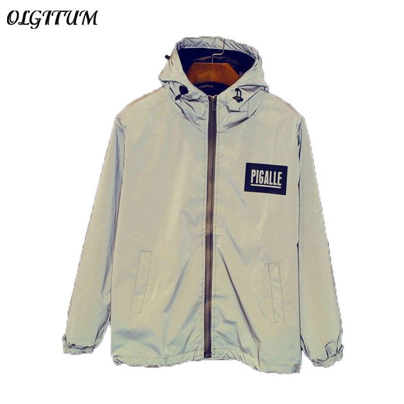 HOT SALE!2019 NEW Men 3M Reflective Jacket Raincoat Outerwear Windbreaker Thick