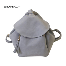 Simhalf женщины рюкзак старинные скраб кожаные рюкзаки черный рюкзак брендовые сумки на плечо для девочек-подростков школьные сумки Mochilas