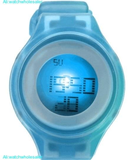 DW363A круглый белый будильник-наручные часы силиконовый розовый ремешок дамы для женщин цифровые часы