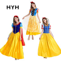 Adult Deluxe Snow White Costume Fairytale Snow Princess Cosplay Fancy Dress Halloween Party Gown halloween costumes for women