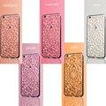 НОВЫЙ 3D Ромба Телефон Случае Роскошные Цветы Горный Хрусталь Bling Мягкие TPU телефон Задняя Крышка Для iPhone 7 7 Plus 5 5 Г 5S SE 6 6 Г