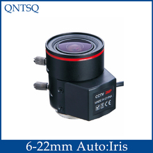 Free shipping 2.0Megapixel Varifocal 6-22mm CCTV Camera Lens For Security Cameras F1.6 CS Mount,Auto IRIS