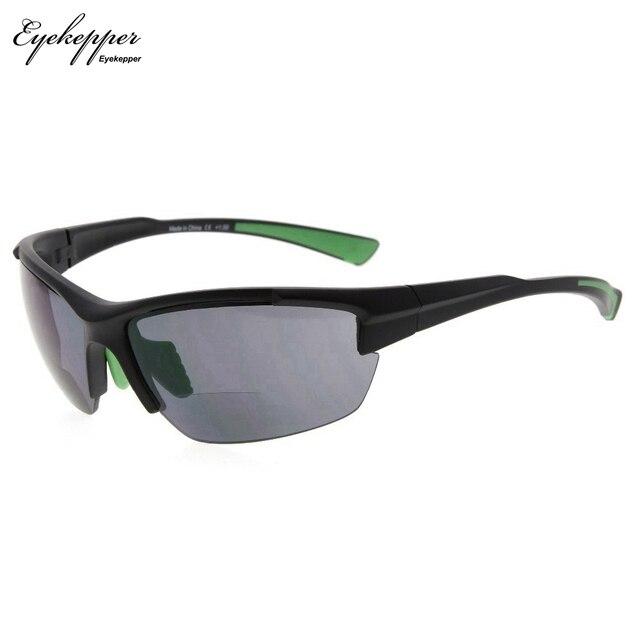 SG901 Eyekepper TR90 Sports Half Rimless Bifocal Sunglasses Baseball Running Fishing Driving Golf Softball Hiking Readers