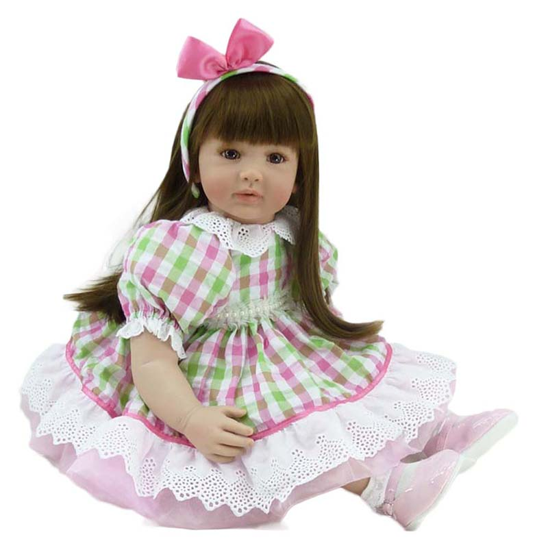 22 Princess Girls Doll Soft Silicone Bebe Reborn Baby Doll Lifelike Handmade Toddler Baby Dolls for Children House Play Toys short curl hair lifelike reborn toddler dolls with 20inch baby doll clothes hot welcome lifelike baby dolls for children as gift