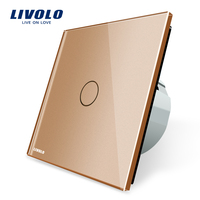 Livolo New Type Touch Switch Golden Color 220 250V Touch Screen Wall Light Switch VL C701