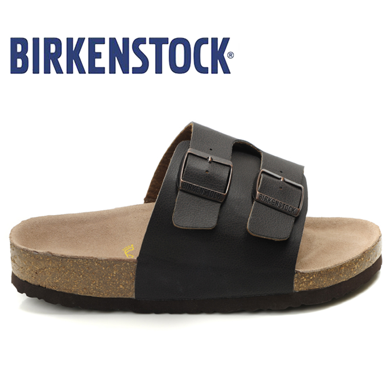 цена Birkenstock Original New Arrival Slippers Men Summer On Beach Slides Sandals Party Shoes Men Unisex 806 Cork Sandals Slippers