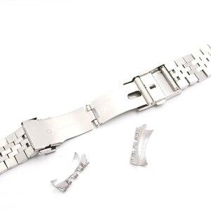 Image 5 - Rolamy 22 มิลลิเมตรนาฬิกาสายคล้องคอสแตนเลสสตีล VINTAGE Jubilee สร้อยข้อมือคู่ Push Clasp Hollow Curved End Solid Screw Links
