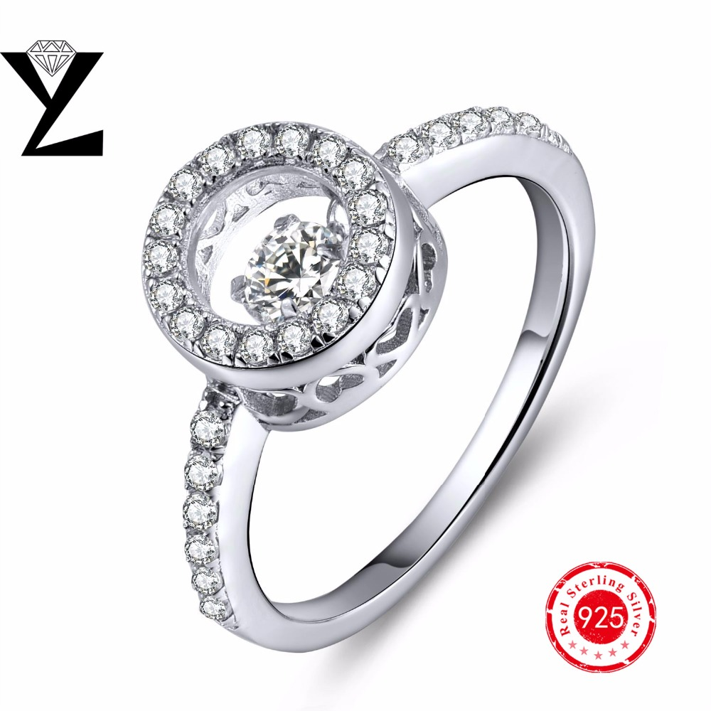 Trendy 925 Sterling Silver Round Women Wedding Bands Rings Filled Engagement Ring for Women Jewelry Wholesale