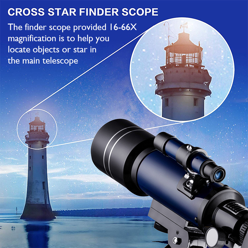 Tools : Astronomical Telescope 70mm Refractor Telescope Moon Watching for Kids Adults Astronomy Beginners 16X 67X Lens with Finder Scope