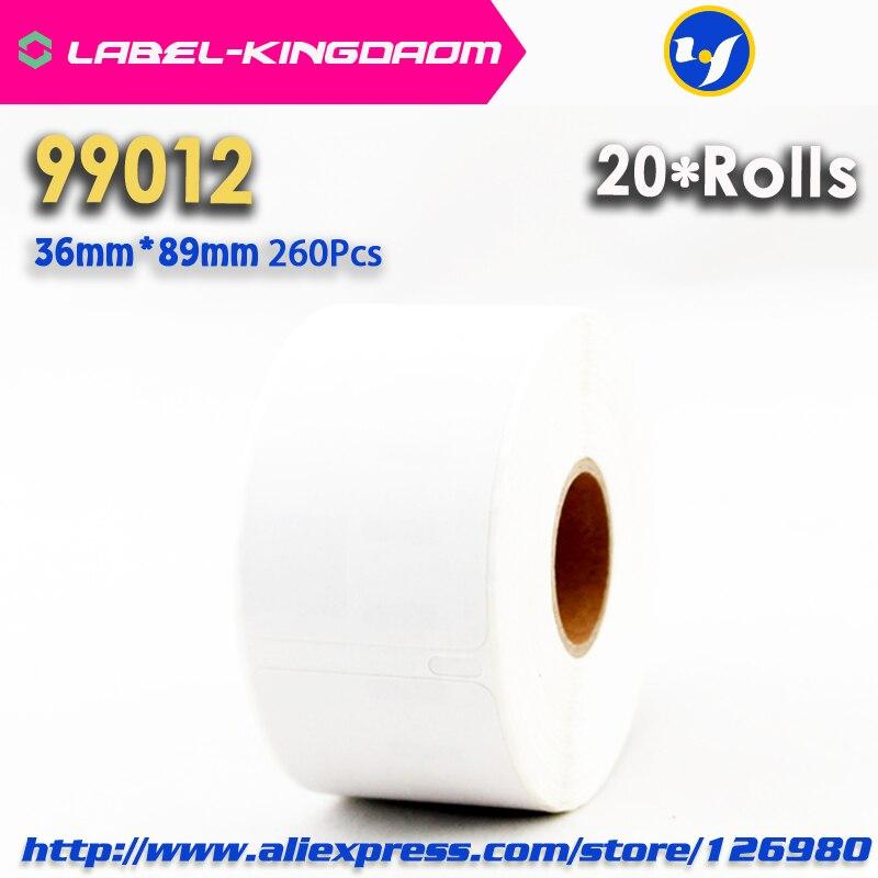 20 ม้วน Dymo Compatible 99012 ป้าย 36 มม.* 89 มม.260 ชิ้น/ม้วนสำหรับ LabelWriter400 450 450 turbo เครื่องพิมพ์ Seiko SLP 440 450-ใน ริบบิ้นเครื่องพิมพ์ จาก คอมพิวเตอร์และออฟฟิศ บน AliExpress - 11.11_สิบเอ็ด สิบเอ็ดวันคนโสด 1
