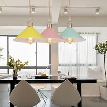 6 color  modern pendant lights Nordic led lamp Christmas decorations for home lighting  lamps for living room with lampshade