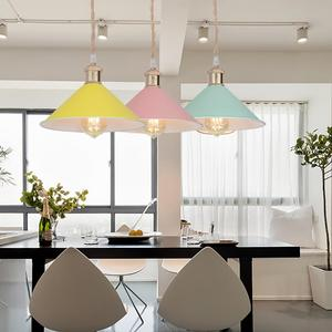 Image 2 - 6 color  modern pendant lights Nordic led lamp Christmas decorations for home lighting  lamps for living room with lampshade