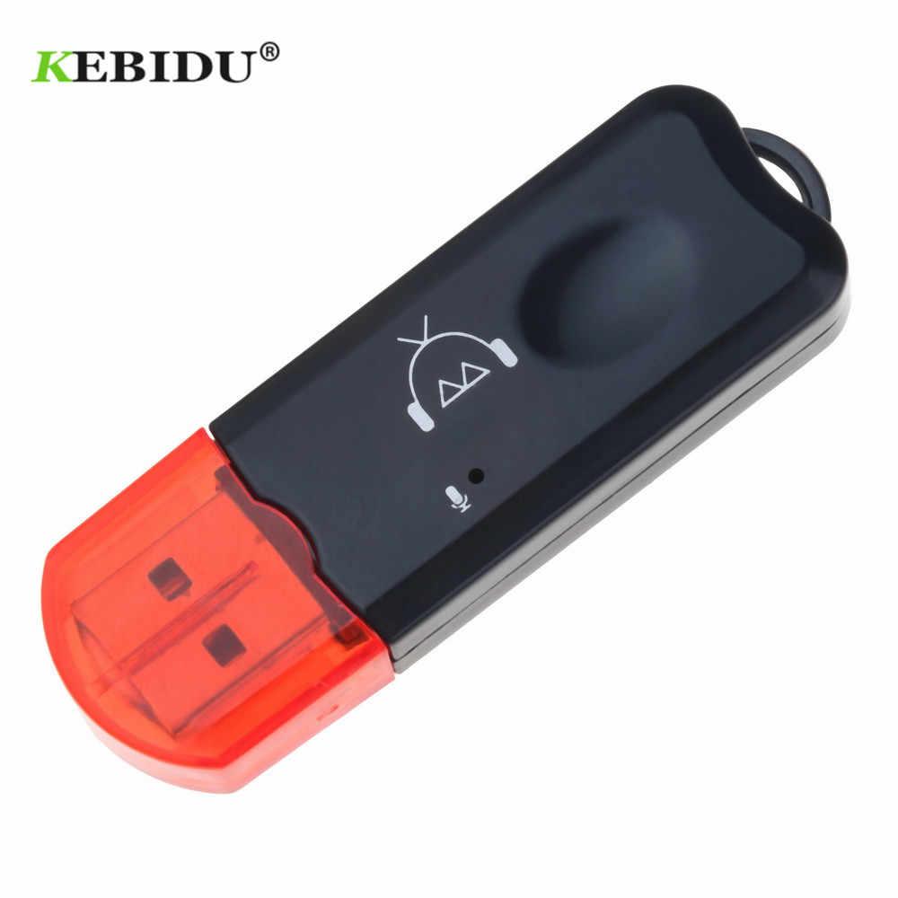 KEBIDU USB Dongle sans fil Bluetooth 2.1 récepteur musique Audio adaptateur AUX stéréo avec micro pour voiture lecteur MP3 haut-parleur