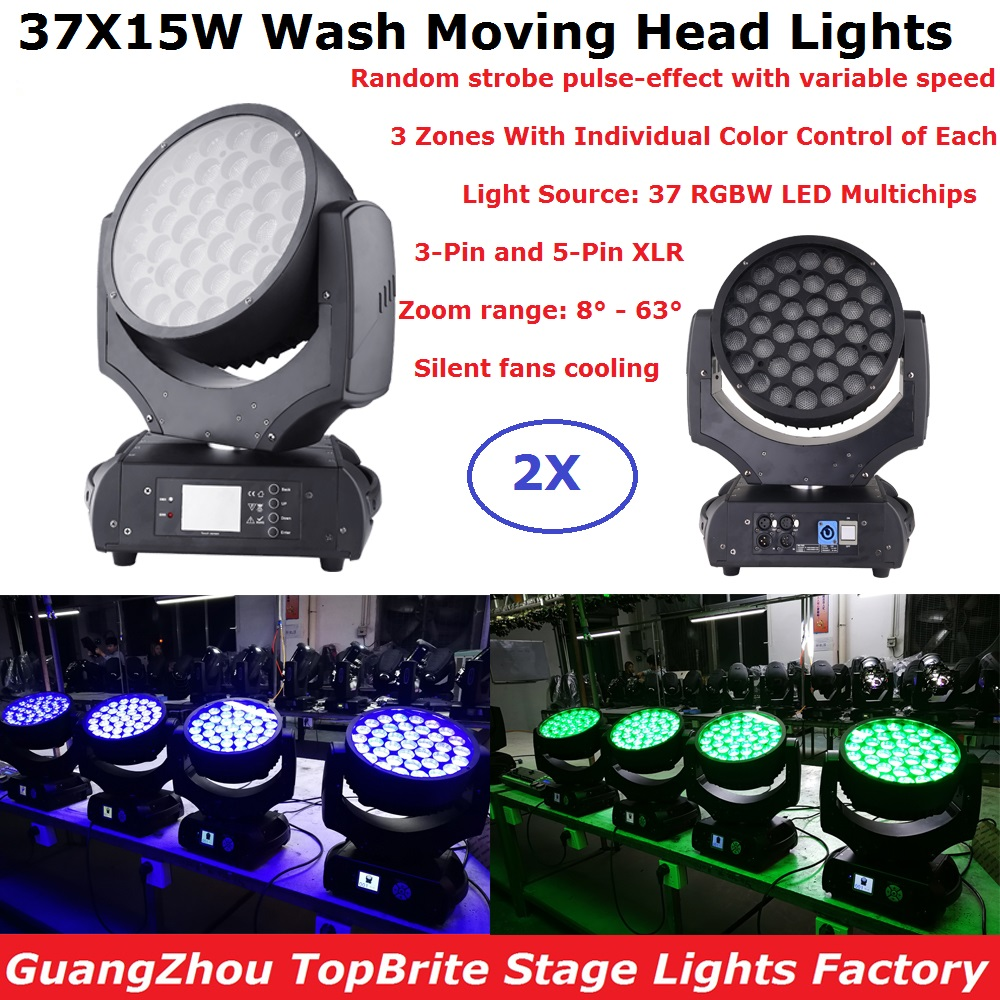 Super-Slim ROBIN 600+ LED Wash 37X15W RGBW 4IN1 LED Moving Head Wash Lights Good For Party Wedding Carnival Discos Free Shipping
