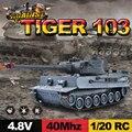 Rc toys 99807 99808 1/20 9ch 40 mhz control remoto por infrarrojos batalla del tanque del tigre cañones y emmagee rc tanque de fort girar tank fighting