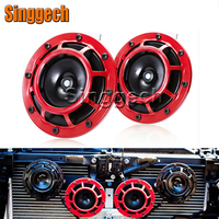 12V Car Styling Red Electric Blast Tone Horn Kit For BMW E46 E39 E90 E60 E36 F30 F10 E34 X5 E53 E30 F20 E92 E87 M3 M4 M5 X5 X6