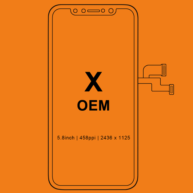 Grade New Black For OEM quality For Phone X LCD Display Touch Screen With Digitizer Replacement Assembly Parts