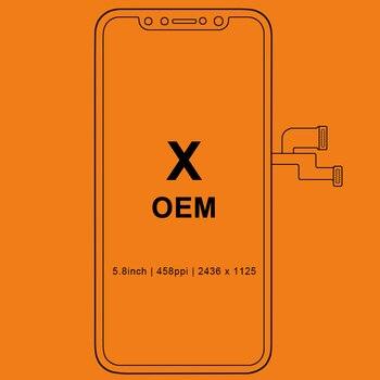 Grado Per iPhone X S Max XR Display A CRISTALLI LIQUIDI Per Tianma AMOLED OEM Touch Screen Con Digitalizzatore Sostituzione di Assemblaggio di Parti nero