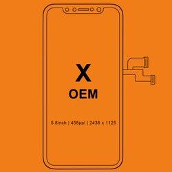 Grado para iPhone X S X Max XR pantalla LCD para Tianma AMOLED OEM pantalla táctil con digitalizador Asamblea reemplazo a negro