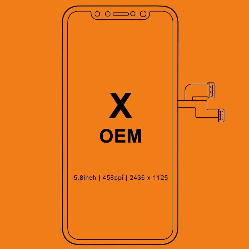 Sınıf için iPhone X S Max XR için LCD ekran Tianma OLED OEM dokunmatik ekran Digitizer yedek meclisi parçaları ile siyah