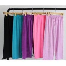 Women sleep bottoms casual comfortable cotton sleeping pyjamas femme underwear f