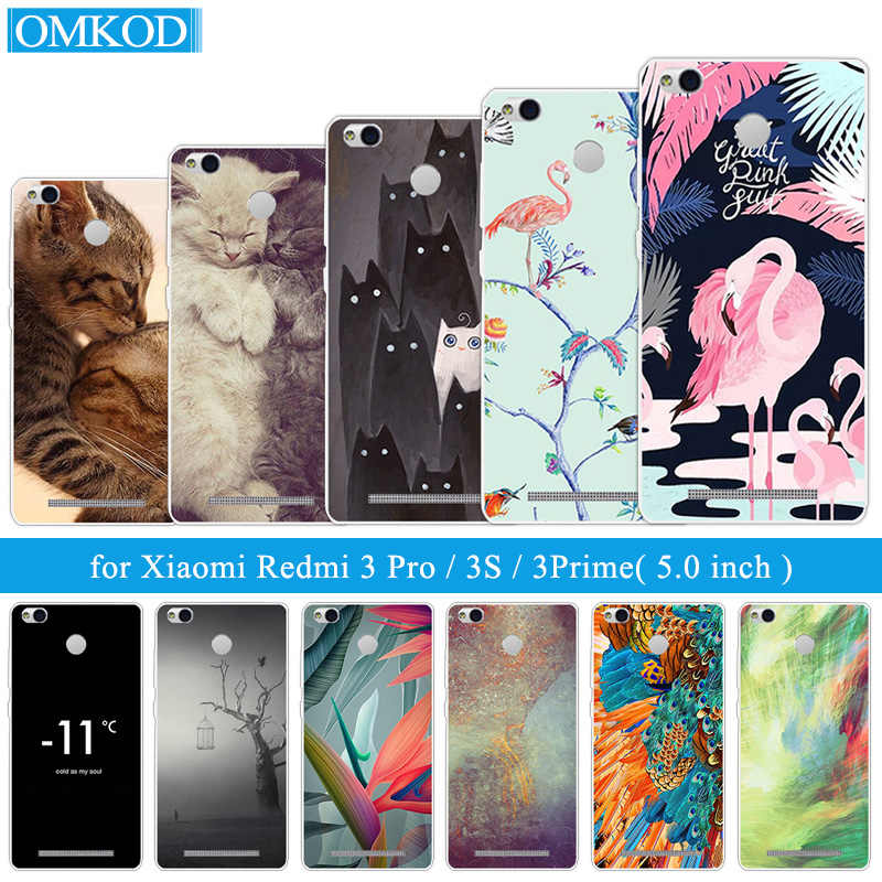 "for Coque Xiaomi Redmi 3S Case Flamingos Cover 5.0"" Clear TPU Silicone Cases for Xiaomi Redmi 3 Pro Hongmi 3S 3 S Pro Black Capa"
