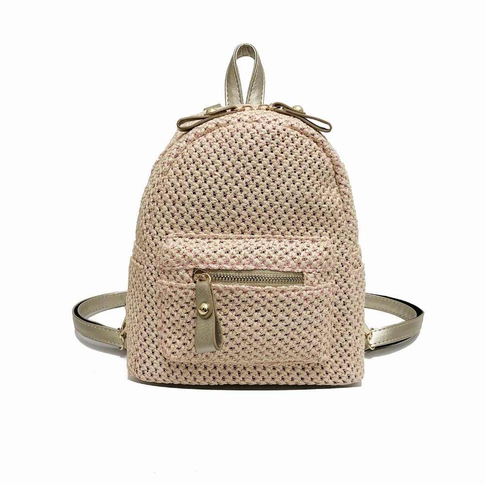 2018 новые модные дизайнерские рюкзаки сумка вязаный крючком соломы трикотажные