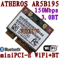 Atheros AR5B195 Bluetooth inalámbrico media PCI-E card wifi 150 Mbps Bluetooth 3.0 WWAN