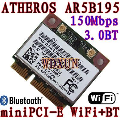 Atheros AR5B195 Wireless Bluetooth Half PCI-E tarjeta wifi 150Mbps - Equipo de red