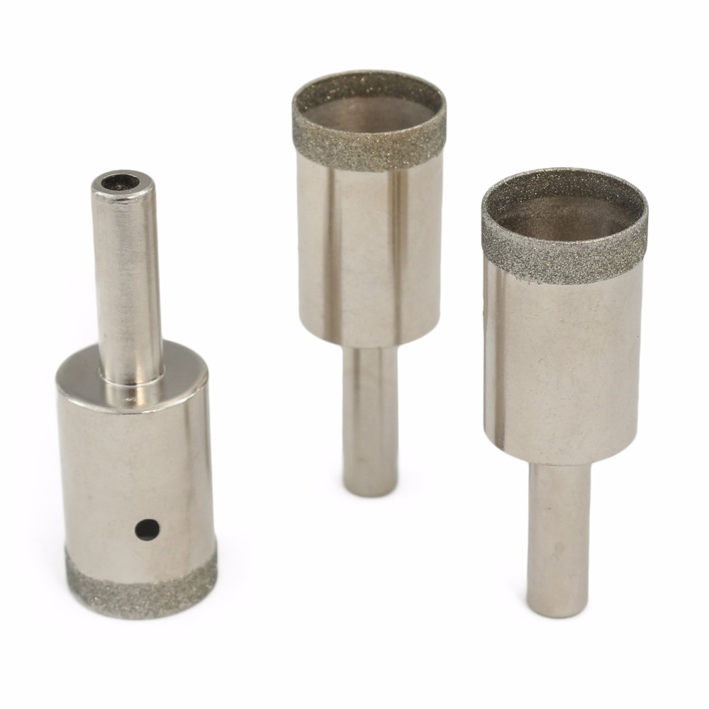 """3Pcs 20 mm 3//4/"""" inch Thin T Head Diamond Mounted Point Grinding Bits Lapidary"""