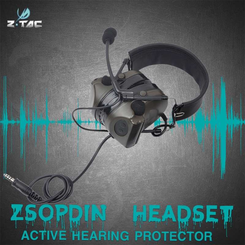 ZTAC Configuration Version Silicone Earmuff  Waterproof   Airsoft  Headset Z044