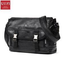 UIYI Design Satchel Männer Handtasche Pu-leder Messenger Crossbody Sling Umhängetasche Jugendliche Schüler Schule College Taschen 160143