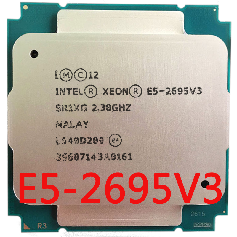 купить Intel Xeon SR1XG server of E5-2695 v3 E5 2695 V3 2695v3 2.3G 14core 28thread socket 2011-3 по цене 61197.07 рублей