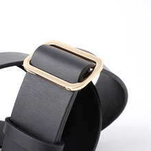 Women's Classic Stitched Leather Plus Size Belt