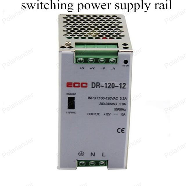 AC/DC 12 V 120 W de salida dual de la fuente de alimentación de Tensión De Transformador Interruptor de Alimentación Adaptador de carril Conductor para La Luz de Tira LLEVADA