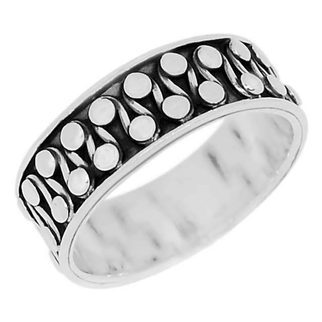 Guarantee Plain 925 Sterling Silver  Ring, 4.5 g, SPJ-2030, Size: 7.25
