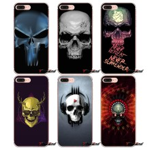 skull 3d Crazy Poster TPU Silicone Case For Huawei G7 G8 P7 P8 P9 Lite Honor 4C 5X 5C 6X Mate 7 8 9 Y3 Y5 Y6 II 2 Pro 2017(China)