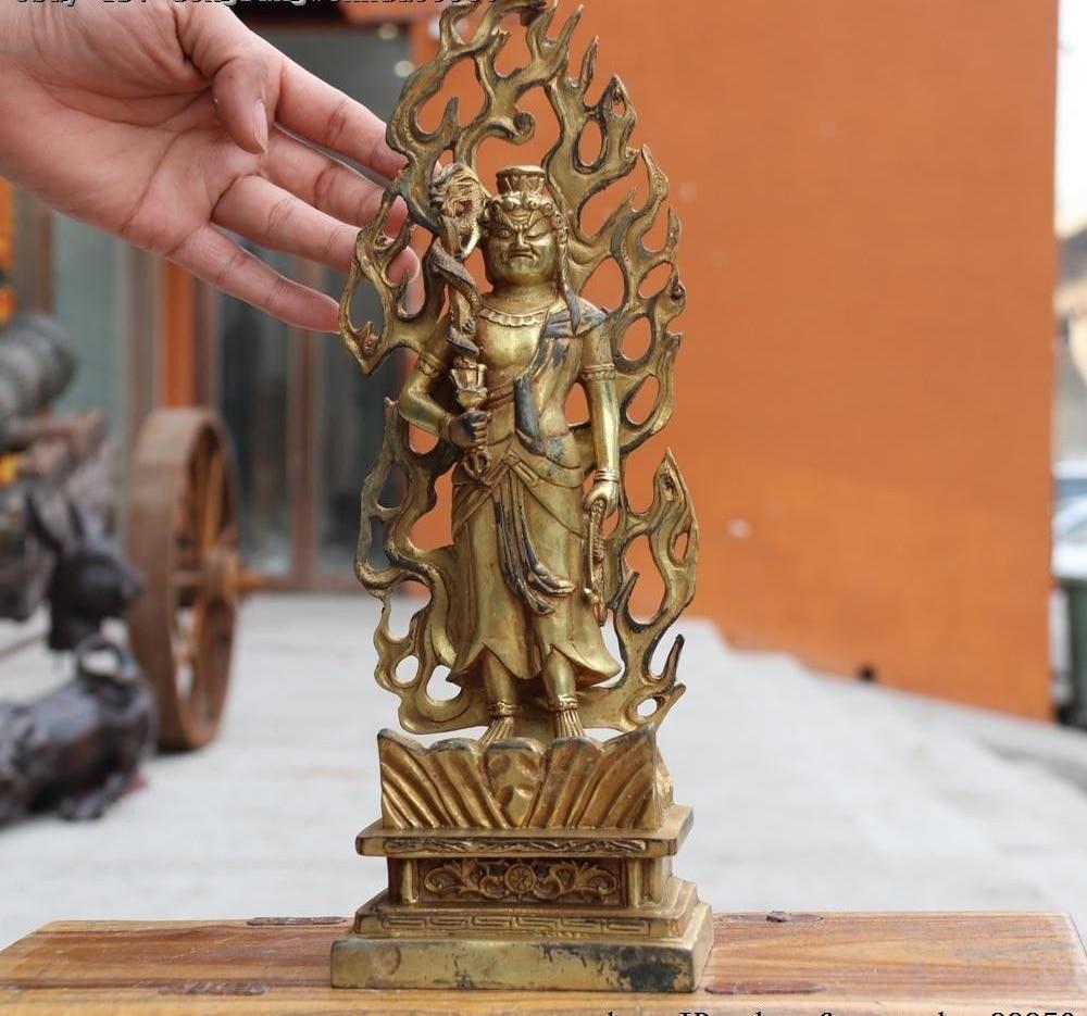 Chinese pure brass maitreya Buddha peach Small pendant