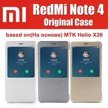 Xiaomi Redmi Note 4 чехол ПУ флип чехол 100% от Xiaomi компания оригинальный для Xiaomi Redmi Note 4X премьер основе На MTK helio X20